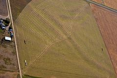 Harvest time in Western Montana USA. Aerial view of harvest time in Western Montana USA Stock Photos