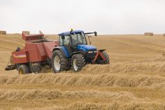 Harvest time in Wiltshire. England Stock Photography