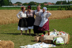 The harvest traditionally begins assembling villagers, singing and dancing and good food. In Nedelisce, Croatia royalty free stock photography