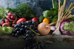 Harvest of vegetables. Food background Royalty Free Stock Photography