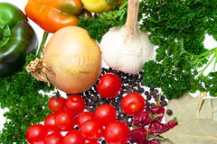Harvest vegetables isolated Royalty Free Stock Photography