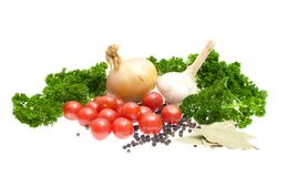 Harvest vegetables isolated on a white background Royalty Free Stock Images