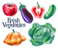Harvest, vegetables on a white background Stock Photo