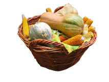 Harvest vegetables in a wooden box Royalty Free Stock Photography