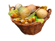 Harvest vegetables in a wooden box Royalty Free Stock Photos