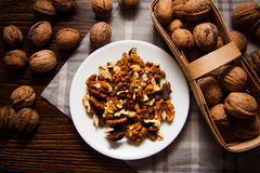 Harvest of walnuts Royalty Free Stock Photos