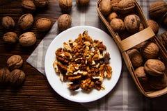 Harvest of walnuts Royalty Free Stock Photos