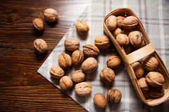 Harvest of walnuts Royalty Free Stock Photo