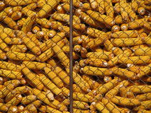 Harvested corn in barn Stock Photography