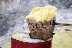 Harvested Sulphur Stock Image