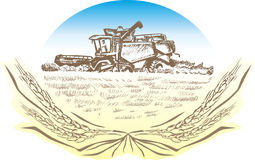 harvester vektor illustrationer
