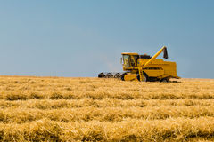 Harvester in action Royalty Free Stock Images