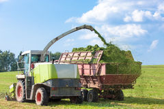Harvester during agricultural works Royalty Free Stock Photos