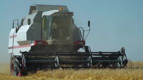 Harvester and agriculture stock video footage