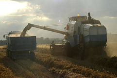 Harvester And Tractor Stock Photos