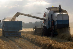 Harvester And Tractor Stock Photography
