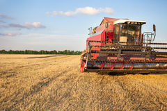 Harvester combine Stock Image