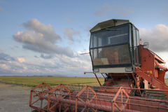 Harvester in a field Royalty Free Stock Photography