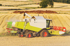 Harvester on a field Royalty Free Stock Photos