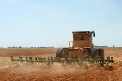 Wheat harvester in a field in Kwazulu Natal South Africa stock image