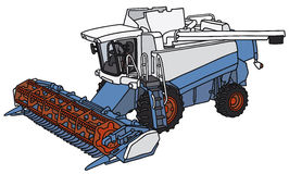 Harvester. Hand drawing of a harvester - not a real model Stock Images