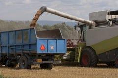 Harvester i arbete royaltyfri foto