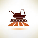 Harvester symbol, agriculture concept Stock Photography