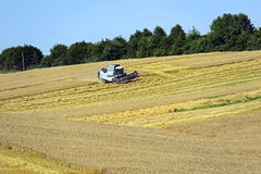Harvester trucks Stock Photography