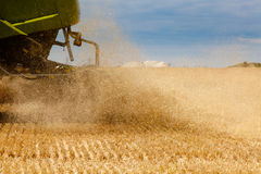 Harvester at work Royalty Free Stock Image