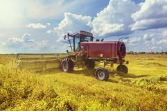 Harvester at work. Stock Images