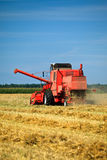 Harvester working Royalty Free Stock Photo