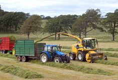 Harvesting. Taken in South lanarkshire scotland Stock Photos