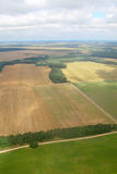 Harvesting. Aerial image. Aerial image of meadows and fields. Rivne region, Ukraine Stock Image