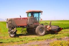 Harvesting alfalfa Stock Image