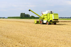Harvesting combine  on farmland Royalty Free Stock Photos