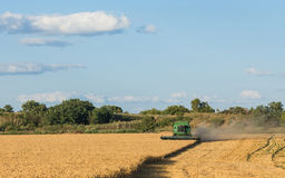 Harvesting combine in the field Stock Photos