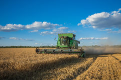 Harvesting combine in the field Stock Images