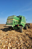 Harvesting the corn field Royalty Free Stock Photography