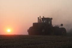 Harvesting at dawn Stock Photography
