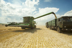 Harvesting in field Stock Images