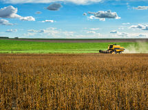 Harvesting machine Stock Photo