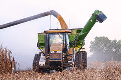 Harvesting a Midwest corn crop Royalty Free Stock Photography