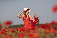 Harvesting poppy Stock Photos