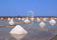 Harvesting Sea Salt Stock Photos