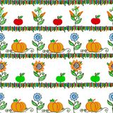Harvesting seamless pattern Royalty Free Stock Images