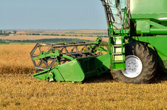Harvesting the wheat crop Stock Photo