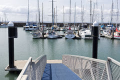 Harvey Bay Marina. View of the Great Sandy Straits Marina, located on the Northern end of Urangan harbour in Hervey Bay, Australia Stock Photography