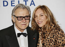 Harvey Keitel e Daphna Kastner Fotos de Stock