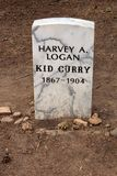 """Kid Curry`s Grave - Linwood Cemetery. Harvey Logan, alias """"Kid Curry"""", was born in 1867 and died on June 17, 1904. His grave is found in Linwood Cemetery's Royalty Free Stock Photo"""