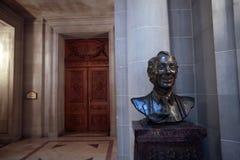 Harvey Milk bust, San Francisco City Hall. SAN FRANCISCO, CALIFORNIA — MARCH 20, 2013 — A bust of slain San Francisco Supervisor Harvey Milk, the first Royalty Free Stock Photo